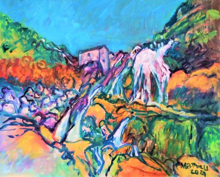 Patrick Mathieu - Artiste Peintre - Toile - Cataractes de montagne
