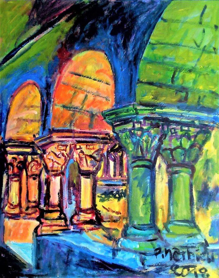 Patrick Mathieu - Artiste Peintre - Toile - Le cloître catalan