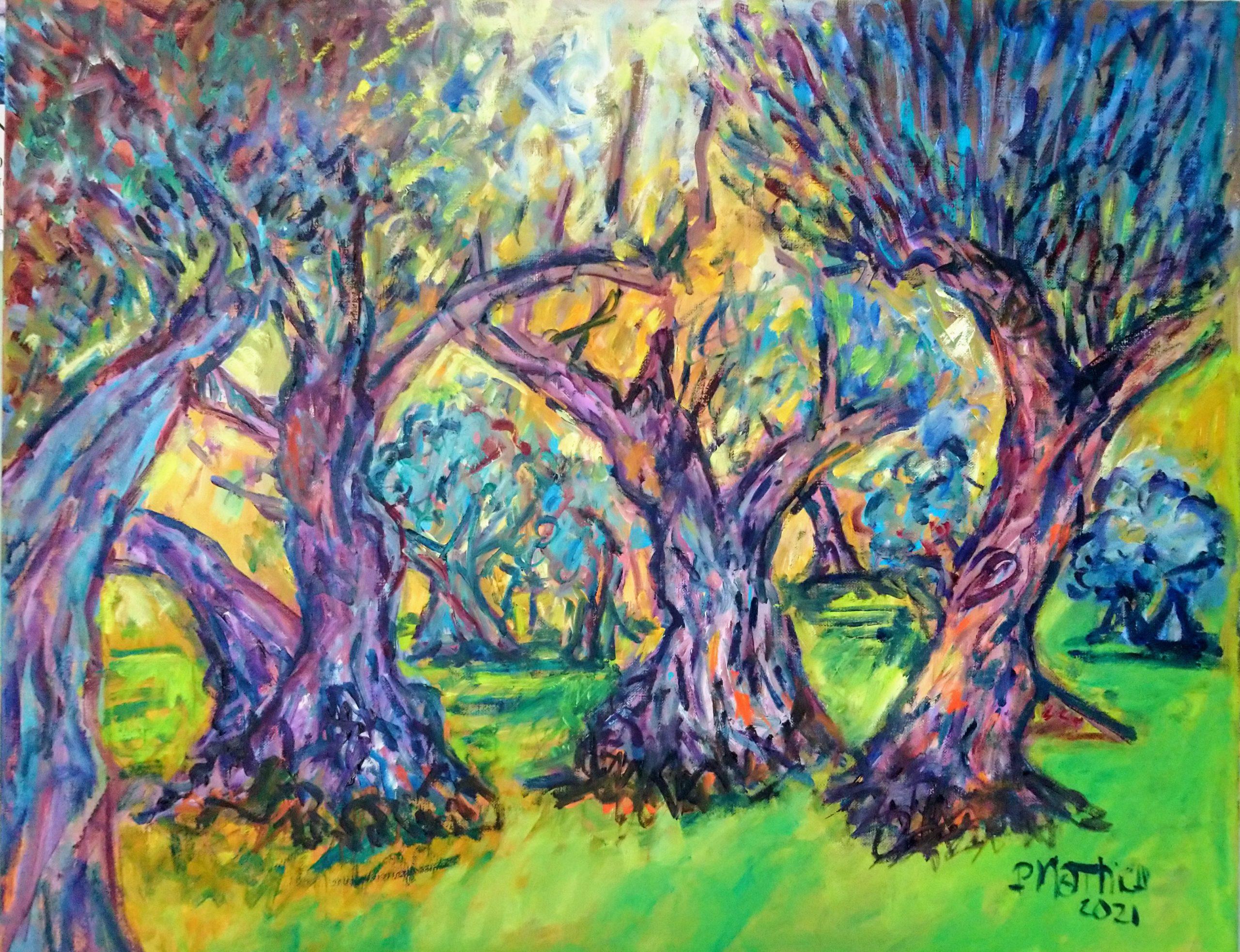 Patrick Mathieu - Artiste Peintre - Toile - L'oliveraie