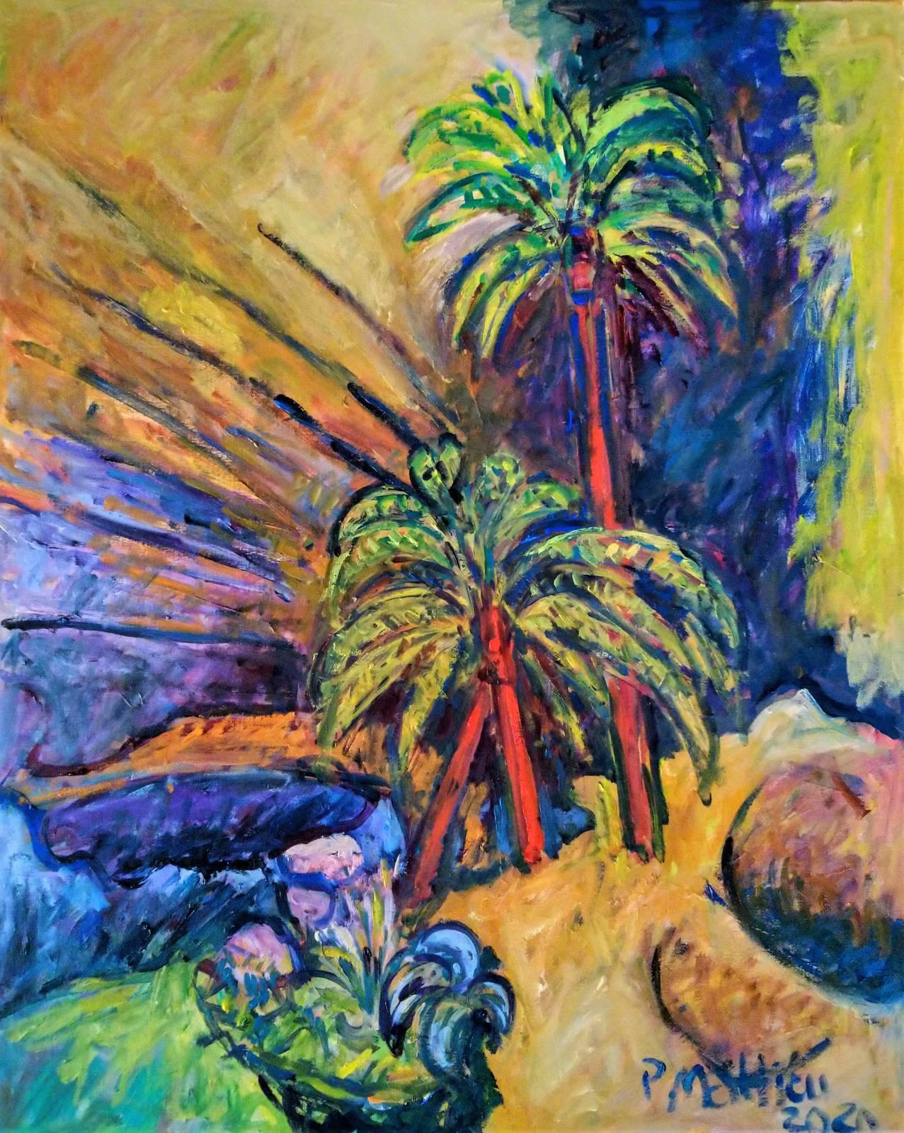 Patrick Mathieu - Artiste Peintre - Toile - Oued saharien